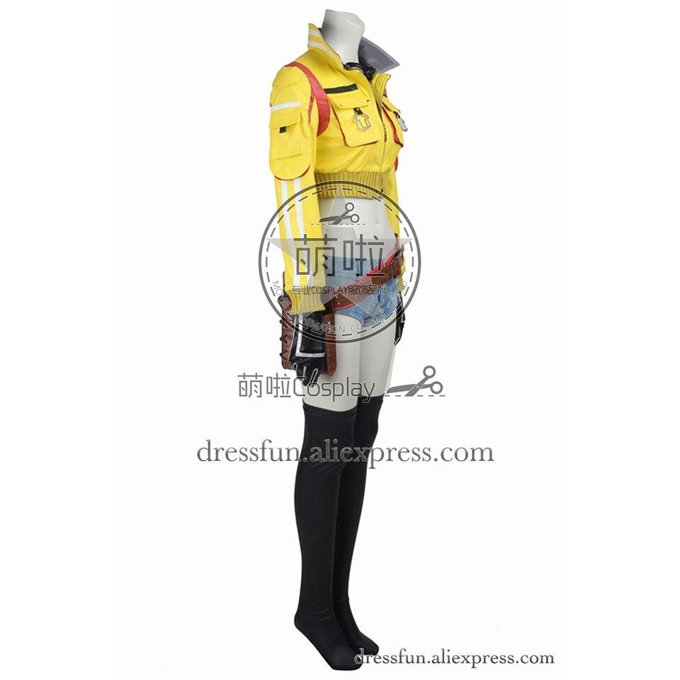 Finale fantaisie XV Cosplay Costume Cindy Aurum Costume jaune veste jeu uniforme tenues décontractées ensemble complet fête Halloween Shorts - 2
