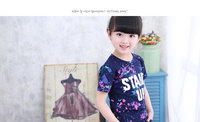 Bebek kız erkek giysileri kızların elbise toptan 2017 sıcak yaz yeni Koreli çocuk baskı kısa kollu T-shirt