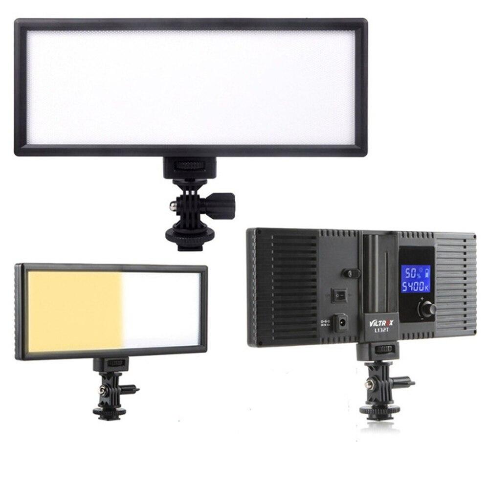 L132T LED Video Light Ultra Thin LCD Bi Color Dimmable DSLR Studio LED Light Lamp Panel