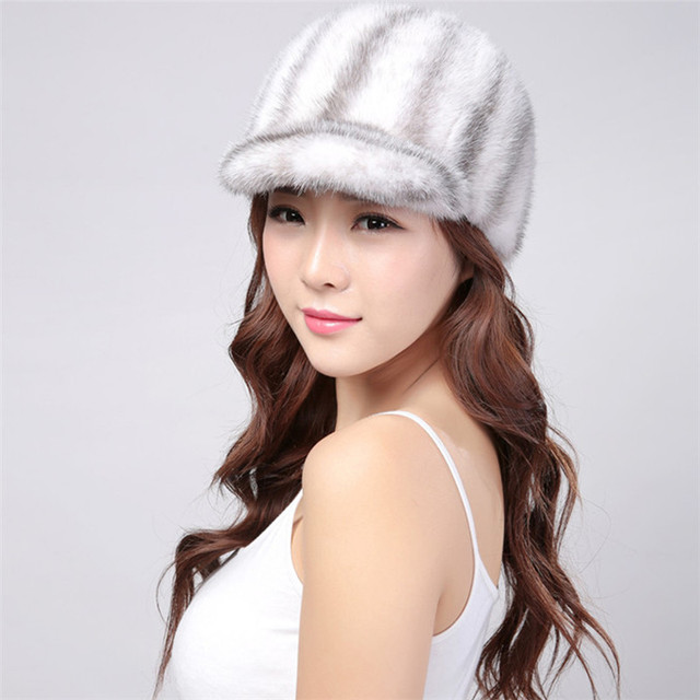 fa307533af8 Women New Product Duck Tongue Hat Adult New Knight Hat Fur Hats For Winter  Genuine Mink Cap Luxury Natural Mink Hat 2018 sale
