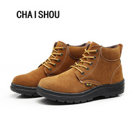 Mens Labor Insurance Puncture Proof Casual Shoe Work Safety Shoes For Men Vintage Mesh Breathable Steel Toe Cap Boots CS 54