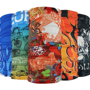 Wholesale Multifunctional Headwear Neck Warmer Outdoor Sport Cycling Flame Bandana Seamless Ski Hiking Scarfs Face Mask Headband