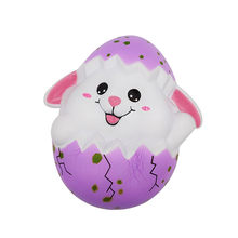 Squishy Easter Egg Soft Starting Kawaii Skuishy Happy Easter Bunny Scented Slow Rising Squishi Collect Squishy Antistress(China)