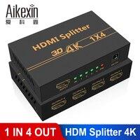 Ultra HD 4K HDMI Splitter 1X4 Port 3D UHD 1080p 4Kx2K Video HDMI Switch Switcher HDMI 1 Input 4 Output Amplifier Display
