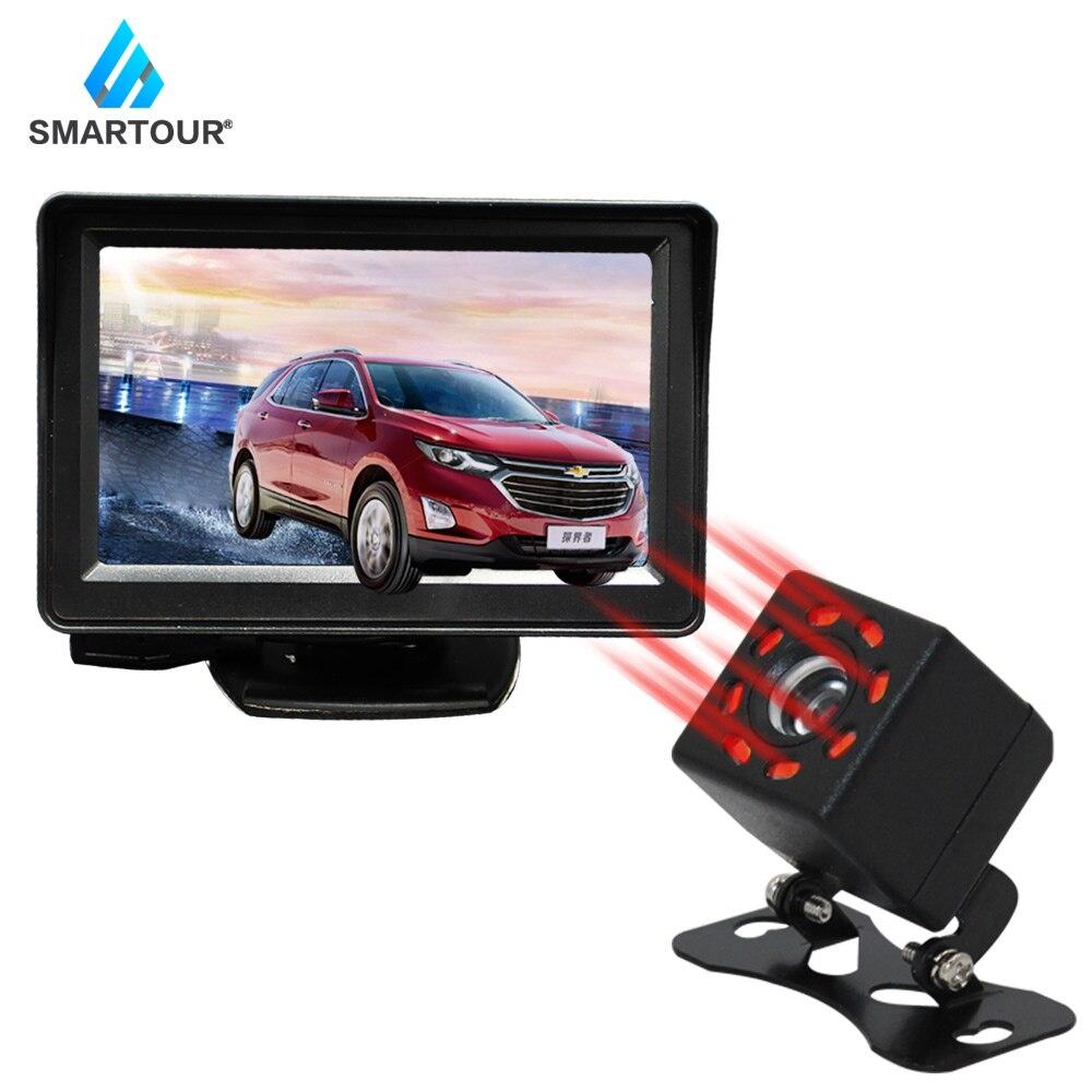 Smartour Car Rear View Camera Universal 8 LED Night Vision Backup Parking Reverse Reversing Camera Waterproof  HD Color Image
