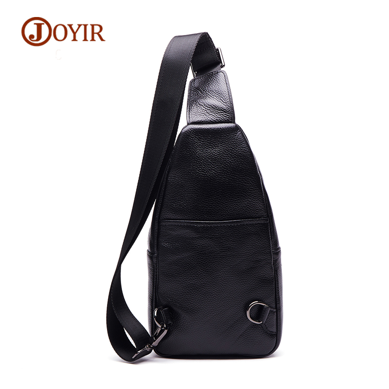 JOYIR Brand Small Crossbody Bag Zipper Cow Leather Chest Bag For Men Messenger Bags Male Genuine Leather Men Bags