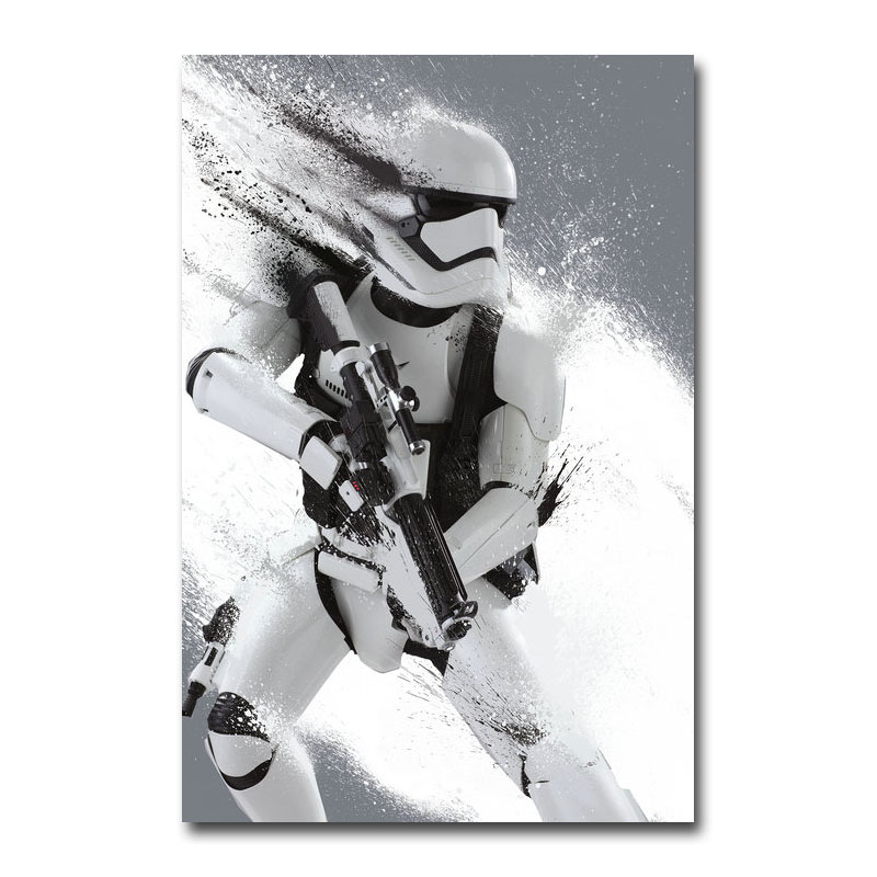 Stormtrooper Star Wars Classic Movie Canvas Poster Print 20x30 60x90 cm Wall Art Decorative Picture Wallpaper Living Room Decor image