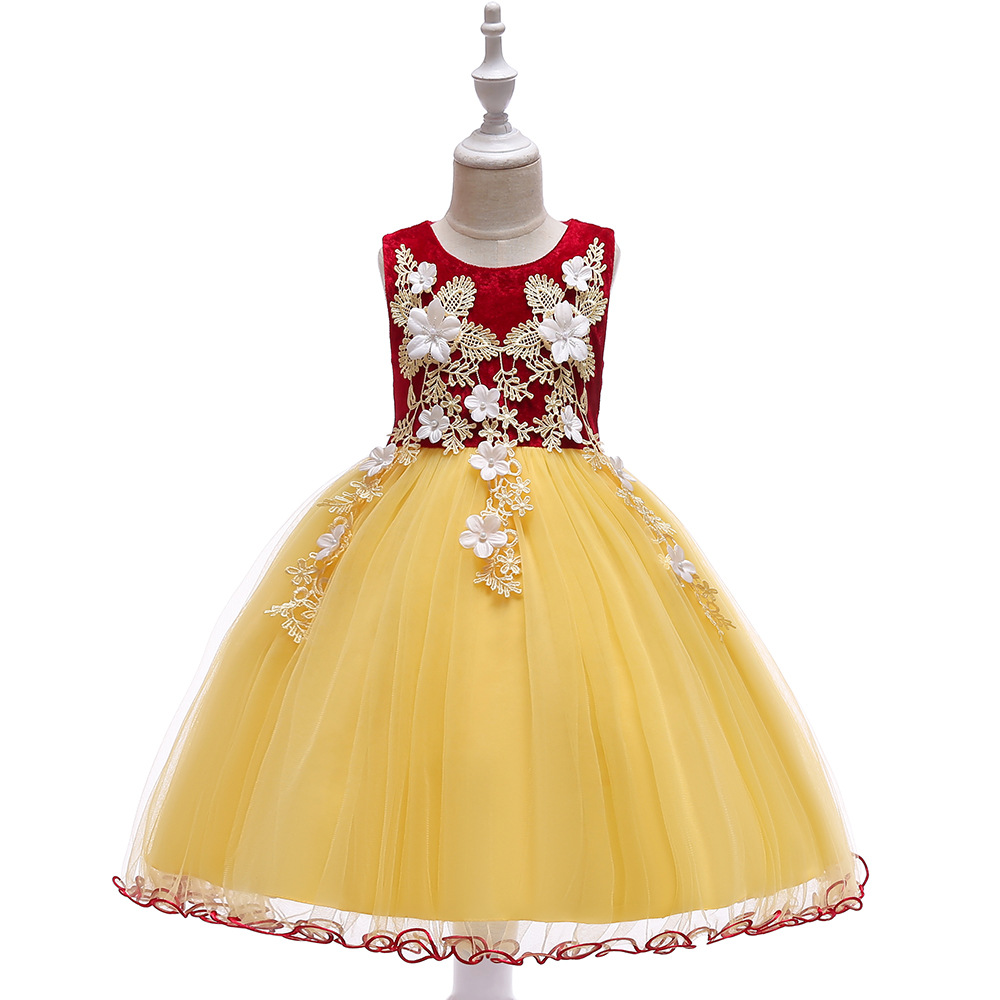 A-Line Sleeveless Lace Appliques   Flower     Girl     Dresses   Tulle