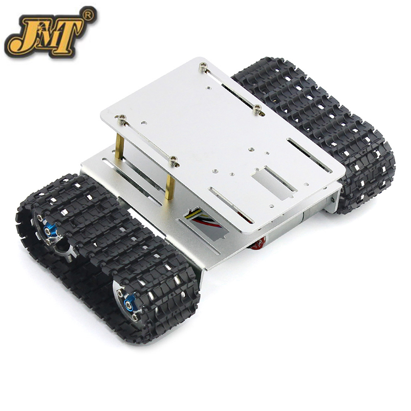 Aluminium Alloy Tank Car Chassis DIY Crawler Robot Chassis Bottom Intelligent Toy A the newest diy aluminum wifi car tank chassis robot crawler antiskid 1h version