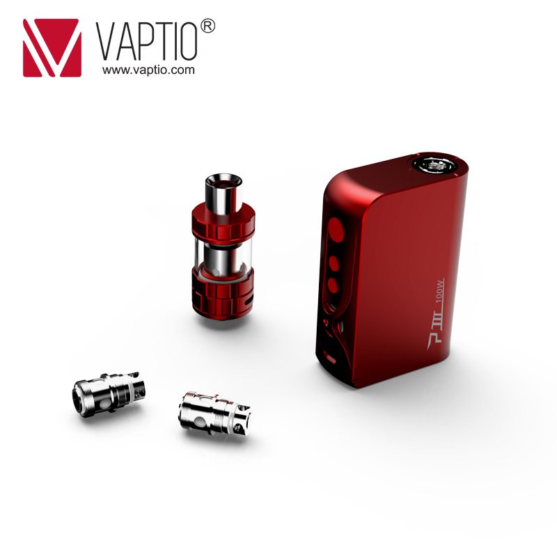 100W Vape Mod kit Original Vaptio P3 GEAR KIT with 3000mAh Built-in battery 510 Thread mod & Capacity 2.0ml