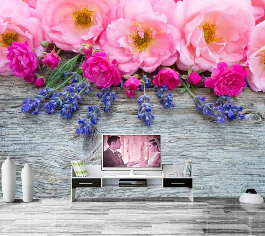 Roses Closeup Pink color Flowers wallpapers papel de parede,living room tv sofa wall bedroom 3d wallpaper large murals