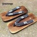 2016 de Los Hombres de punta cuadrada de madera zuecos zapatillas flip zapatillas tablón Hombres zapatos casuales más tamaño Chanclas Sandalias De Interior zapatos