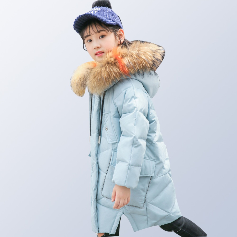 Teenage Girls Winter Coats 2018 New Children Winter Jacket Kids Warm Thick Fur Collar Hooded Long Down Coats Age 8 10 12 14 Year new french for macbook pro 15 a1286 mb985 mb986 mc371 mc372 mc373 mc721 mc723 md103 md104 fr laptop keyboard 2009 2012
