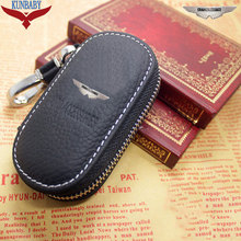 New Arrival Men's Genuine Leather Bag Car Key Case Cover Wallets Fashion Women Housekeeper Holders Carteira For Aston Martin