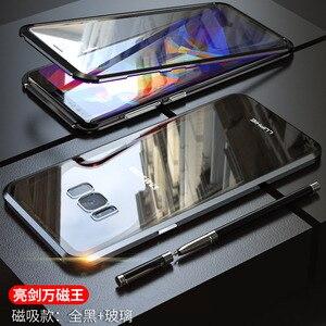 Image 4 - สำหรับ Samsung Galaxy S10 5G S10 Plus S10e Case 360 องศาฝาครอบแม่เหล็กด้านหน้าด้านหลังสำหรับ galaxy S9 Plus แม่เหล็กกรณี