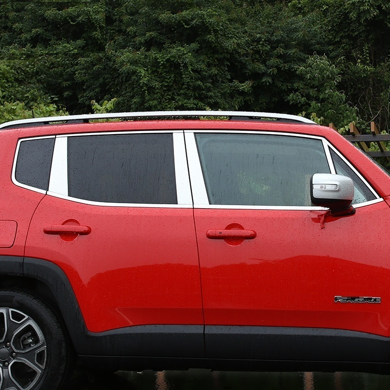 car chromium styling window modified special bright decoration sequins mouldings exterior column FOR JEEP Renegade
