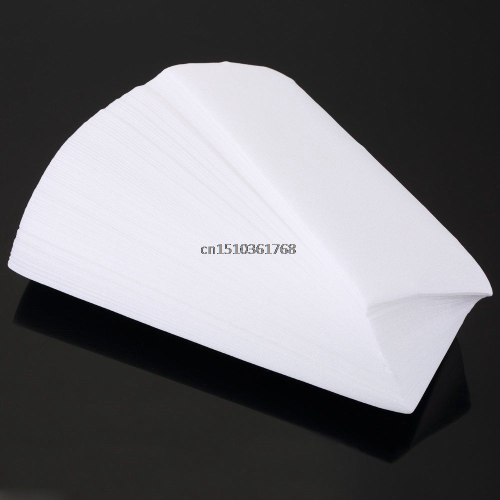 100pcs Hair Removal Remove Depilatory Wax Strip Nonwoven Epilator Paper Roll Waxing #Y05# #C05#