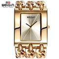 WEIQIN Women Gold Silver Square Dial Bangle Watch Quartz Ladies Chain Bracelet Watches Female Wristwatch relogio feminino