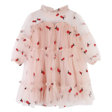 DFXD Girls Dress England Style Baby Girl Summer Party Dress New Arrival Kids Clothes Girls Long Sleeve Lace Princess Dress 2-8Y 2017 brand new girl dress winter kids clothes european and american style leaf pettern design for girls clothes 3 8y