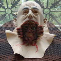 2014 Horror Mask Halloween Lifelike Latex Zombie Mask Large Bald Man Screaming Grimace For masquerade party