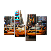 FREE SHIPPING Modern Crowed Street with Many Cars Prints Art Canvas Art Oil Painting (Unframed)