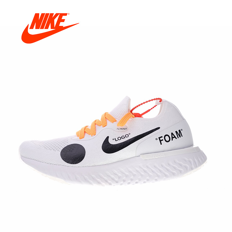 Original New Arrival Authentic NIKE Off White X Epic Men's Breathable Running Shoes Outdoor Sneakers Good Quality AQ0070-809 v neckline fur cuff sweater