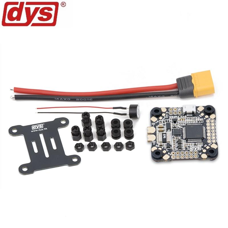Control de vuelo DYS F4 PRO V2 Betaflight con 5 V/3A 9 V/1.2A BEC circuito de protección intergrada a bordo OSD conexión de cable plano