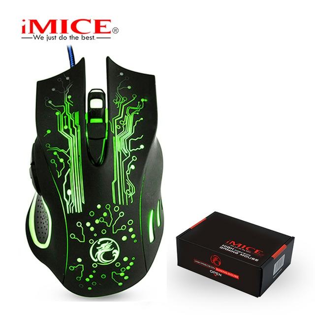 IMice Проводная игровая мышь компьютер мышь USB тихий геймер мыши Компьютерные 5000 точек на дюйм PC Mause 6 Кнопка эргономичный волшебная игра X9 для ноутбука