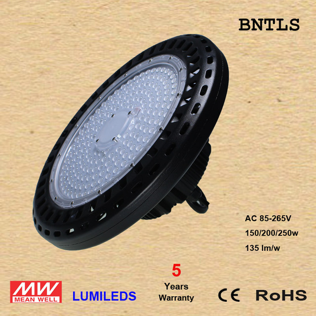 100/150w200W LED High Bay Toll gate led light CreeChip  Mewenwell driver 5 Years warranty 135lumen/w replace 400w metal halide