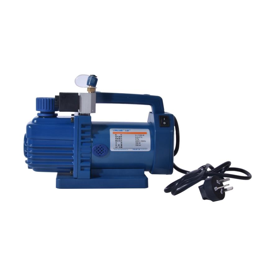цена на 1pc V-i115S-M New refrigerant vacuum pump suit for R410a,R407C,R134a,R12,R22 refrigerate 2CFM 220v