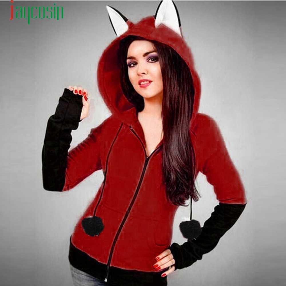 121ce604 Красный Новый Лис, толстовка Для женщин толстовки с длинными рукавами в  стиле пэчворк пальто Для