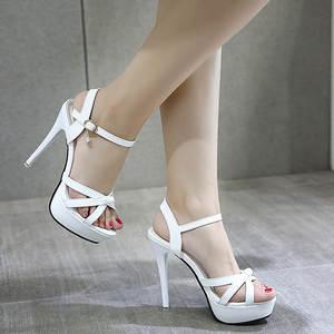 e176c7f1bb6 2018 Summer Women Thin Heel High Heels Sandals Shoes