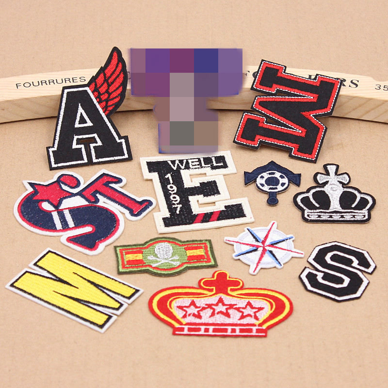 hot sale 1pcs letter patches cartoon anchor embroidered With letter patches for sale