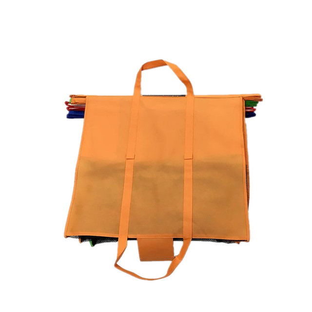 Eco-friendly folding trolley bag Non Woven Fabric Shopping Cart Storage Bag Pack of 4 Set Supermarket Easy Packing Bag