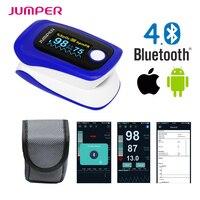 Jumper Brand Finger Pulse Oximeter Blood Oxygen Saturation JPD 500F Wireless Bluetooth Oximetro De Dedo Monitor