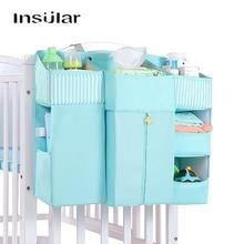Bebê berço cama pendurado saco de armazenamento cama do bebê organizador da fralda conjuntos de acessórios para armazenamento e organização do berçário