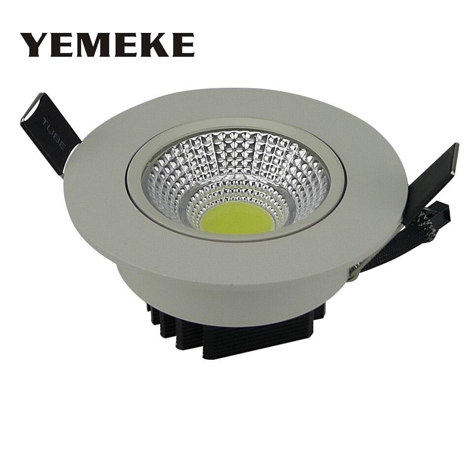 Enerģijas taupīšanas COB bākugunis ir mazināms 5w 10w 20w LED griestu spuldzē ar padziļinājumu spuldzē Super Spot Spot Light Fixtures Plūdu apgaismojuma lampa