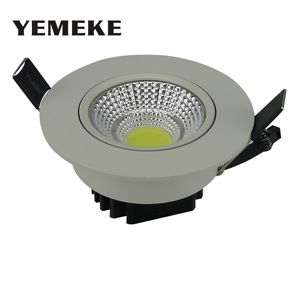 Energy Saving COB Downlight Dimmable 5w 10w 20w LED Recessed Ceiling Bulb Super Bright Spot Light Fixture Flood lighting Lamp