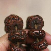 BRO575 Tibetan 108 Beads Old Oiled Rudraksh Bodhi Prayer Beads Mala 18x10mm Man Amulet Buddhist Bracelet