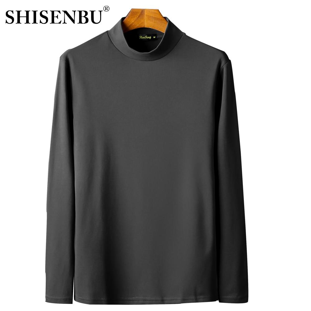Male Underwear Shirt High Neck Winter Bodysuit Mens Warm Clothes Thermal Undershirts Thick Basic Tops Cotton Undershirt Tshirt (2)