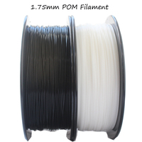 High stiffness pom filament 1.75mm 1kg filament 3d printer filaments black white pom impressora 3d plastic filament
