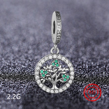 925 sterling silver hanging beads life tree pendant suitable for Pandora DIY jewelry production