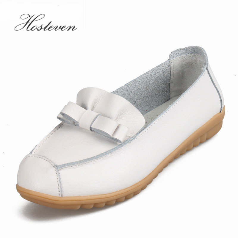 2017 Spring Women's Shoes Women Flats Genuine Leather Shoes Woman Loafers Slip On Ballet Flats Boat Shoes Footwear 2018 spring women flats shoes women genuine leather shoes woman cutout loafers slip on ballet flats ballerines flats 169