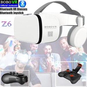 "Image 2 - BOBO VR Z6 Bluetooth 3D gafas Realidad Virtual caja Google cartón estéreo micrófono casco para 4,7 6,5"" smartphone + Joystick"