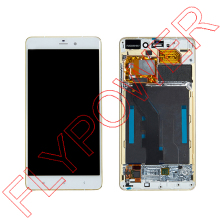 For XiaoMi NOTE FHD 5.7 inch 2560X1440 LCD Display +Digitizer touch Screen with GOLD Frame Assembly White by Free Shipping