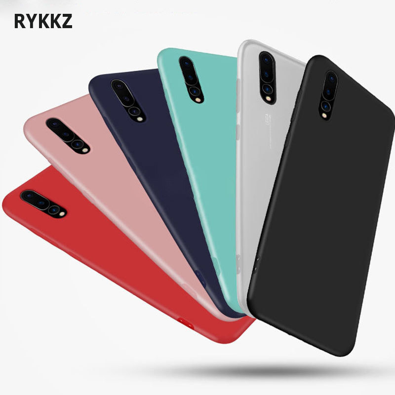 online retailer 027fb e6e80 For Huawei P20 Lite / Nova 3E Phone Case Frosted Solid Color Case On Coque  Huawei P 20 Pro / Plus P20lite TPU Back Cover Shell