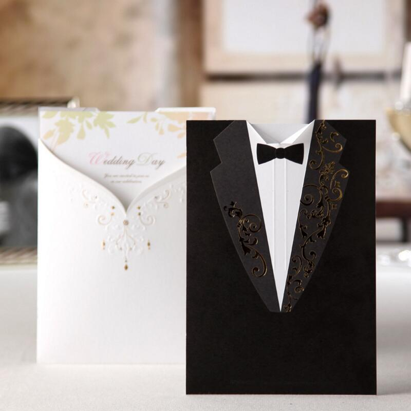 ФОТО 50 Pcs/Pack New Design Personalized Groom & Bride Customized Colourful Printing Wedding Invitations Cards Free Shipping