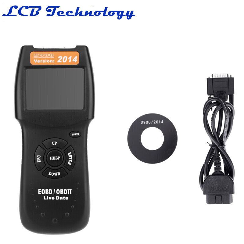 2PC/LOT Professional D900 OBD2 Scanner Universal Car Engine Fault Diagnostic Scanner Code Reader OBDII EOBD CANBUS Free shipping free shippinng diy om580 obd scanner automotive obd2 eobd car code reader for engine abs dsc srs fault diagnostic tool