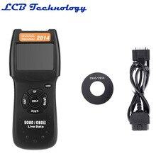 2 ШТ./ЛОТ Профессиональный D900 OBD2 Сканер Универсальный Автомобилей Неисправности Диагностический Сканер Code Reader OBDII EOBD CANBUS Бесплатная доставка