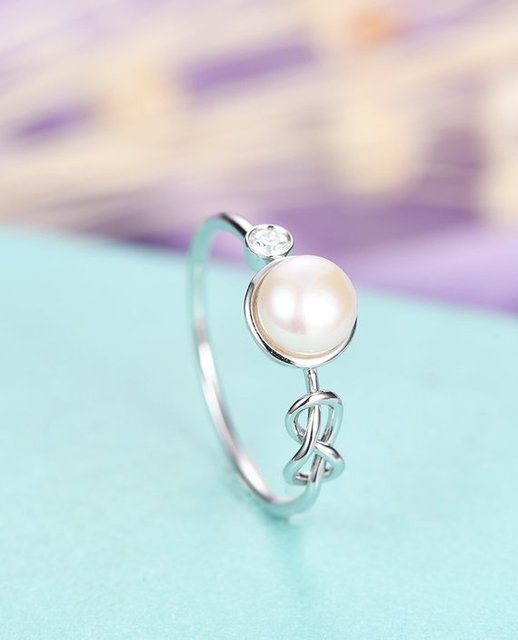Wholesale China Product Myray Pearl Wedding Ring Engagement Rings
